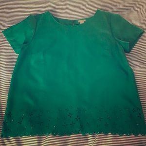 J. Crew Emerald Green Blouse